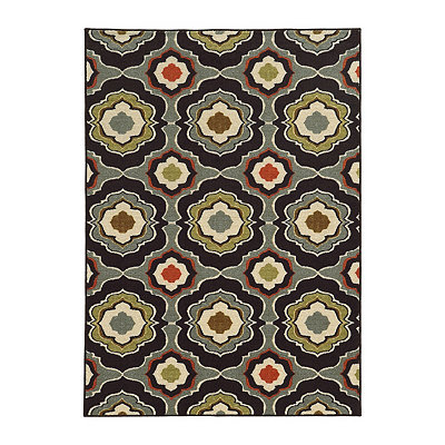 Mirrored Medallion Antioch Area Rug, 7x9