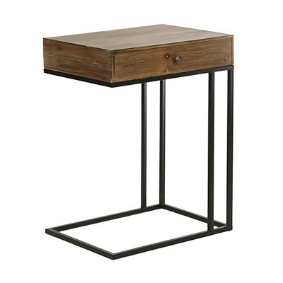 Single Drawer Wood C-Table