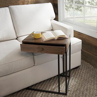 Single Drawer Wood C-Table