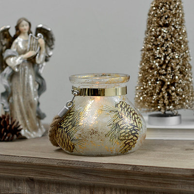 Pine Cone Gold Foil Lantern