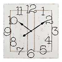 Cream Wood Door Clock