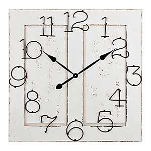 Cream Wood Door Clock