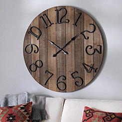 Delilah Wooden Wall Clock