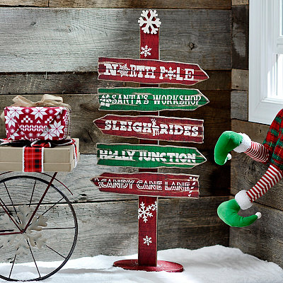 Christmas Directions Arrows Sign