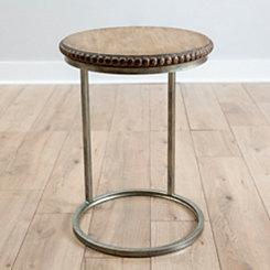 Beaded Round Wood C-Table