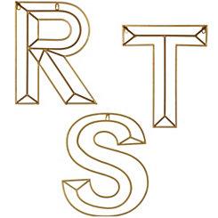 Gold Geometric Monogram Metal Plaques