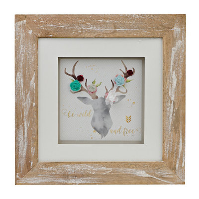 Wild and Free Deer Head Shadowbox