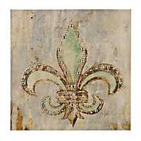 Jeweled Fleur-de-Lis Canvas Art Print