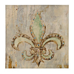 Jeweled Fleur-de-Lis Canvas Art Print