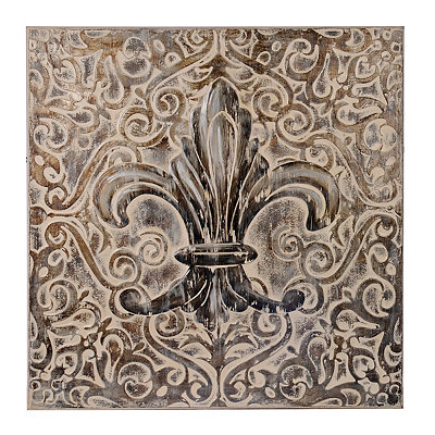 Antique Fleur-de-Lis Canvas Art Print