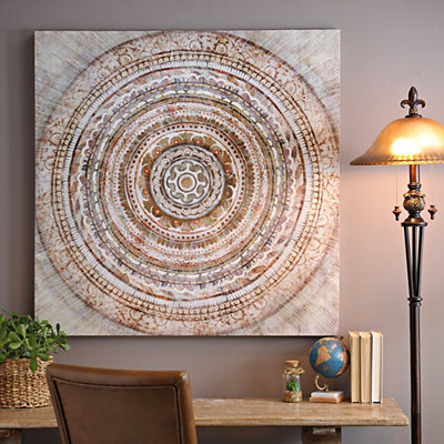 Tan Medallion Canvas Art Print