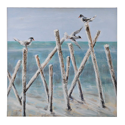 Shore Birds Canvas Art Print