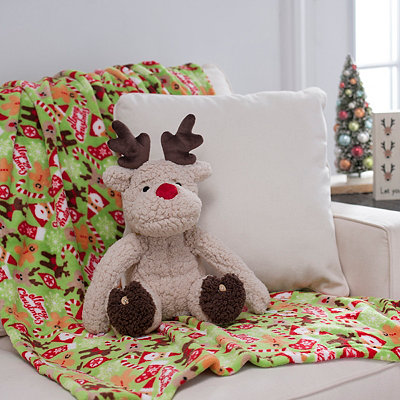 Reindeer Blanket Buddy Set