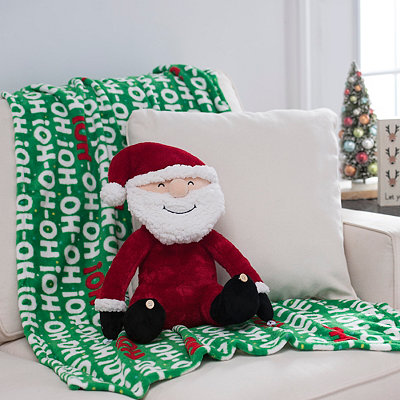 Santa Claus Blanket Buddy Set