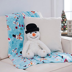 Snowman Blanket Buddy Set