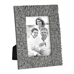 Gray Sand Shards Picture Frame, 4x6