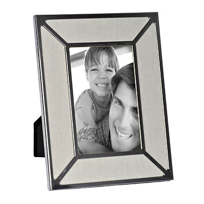 Elise Linen Silver Picture Frame, 4x6