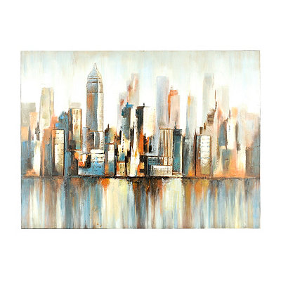 Blur Cityscape Canvas Art Print