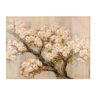 White Budding Branches Canvas Art Print