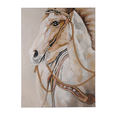 White Beauty Horse Canvas Art