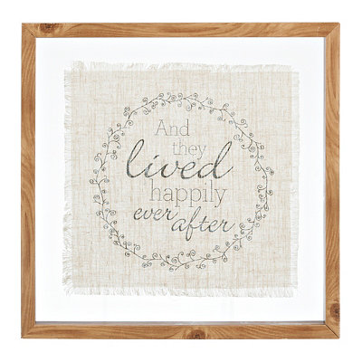 Happily Ever After Linen Framed Art Print
