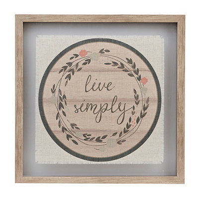 Live Simply Linen Framed Art Print
