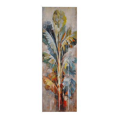 Abstract Palms on Wood I Plaque