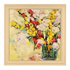 Song In Yellow And White Framed Art Print