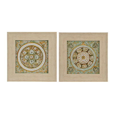 Jeweled Tile Framed Art Prints