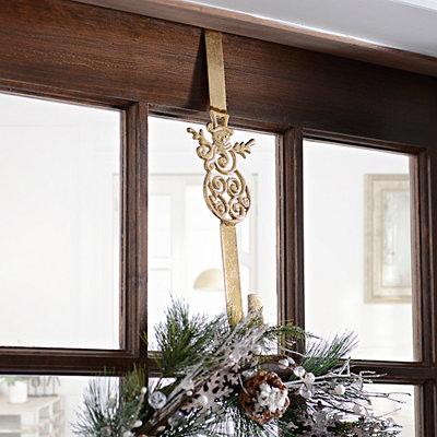 Snowman Metal Wreath Hanger