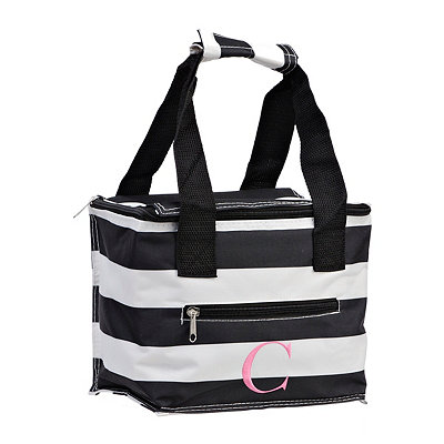 Striped Kaleidoscope Monogram C Lunch Tote
