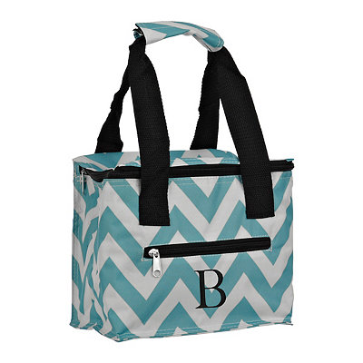 Chevron Kaleidoscope Monogram B Lunch Tote