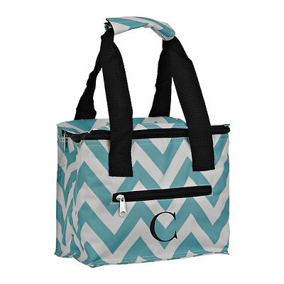 Chevron Kaleidoscope Monogram C Lunch Tote