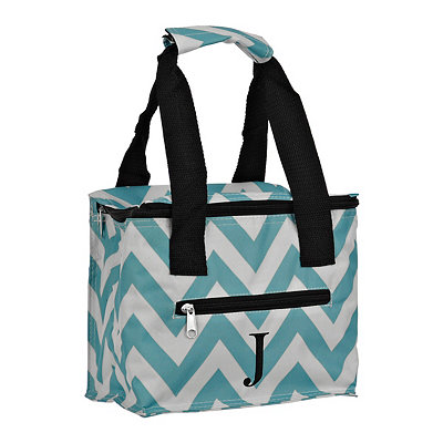 Chevron Kaleidoscope Monogram J Lunch Tote