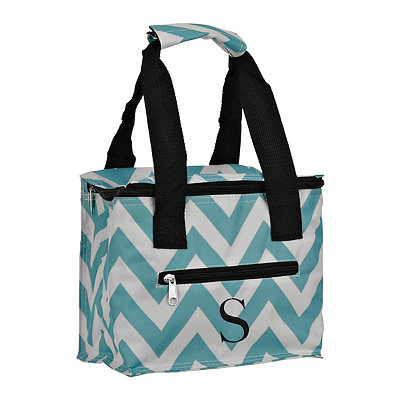 Chevron Kaleidoscope Monogram S Lunch Tote
