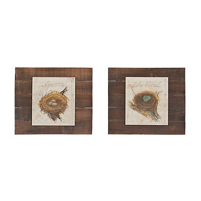 Bird Nest Pallet Mounted Art Prints