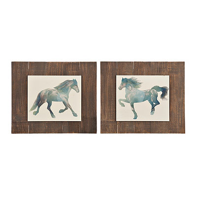 Running Horse Pallet Mounted Art Prints