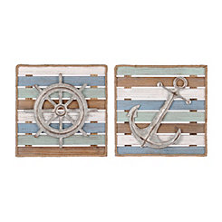 Coastal Icons Wood Plank Plaques