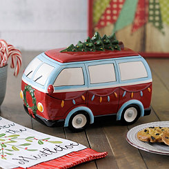 Vintage Christmas Van Cookie Jar