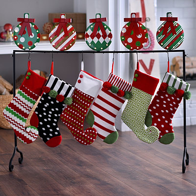 Pre-Lit Metal Ornament Stocking Holder