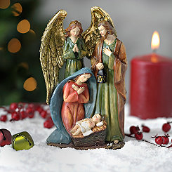 Traditional Holy Family and Angel Statue