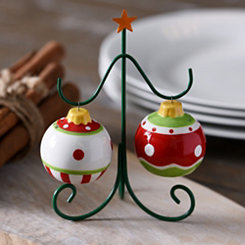 Ornament Salt and Pepper Shakers, Set of 2