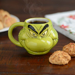 Sculpted Grinch Christmas Mug