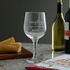 Naughty Over Nice Extra Large Wine Glass