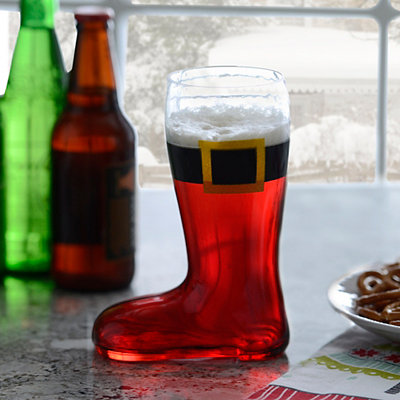 Santa Claus Boot Pint Glass