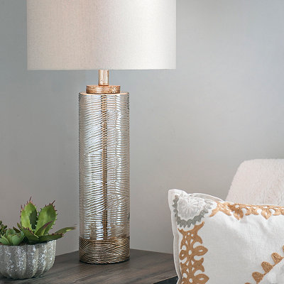 Grooved Bellary Glass Table Lamp