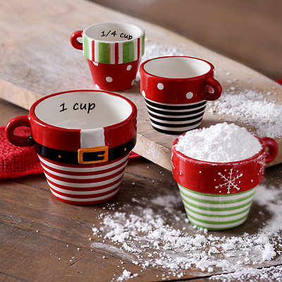 Christmas Measuring Cups, Set of 4