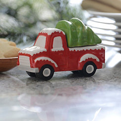Red Truck and Tree Salt and Pepper Shaker Set