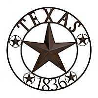 Bronze Texas Star Metal Wall Plaque
