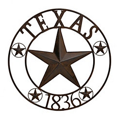 Bronze Texas Star Metal Wall Plaque